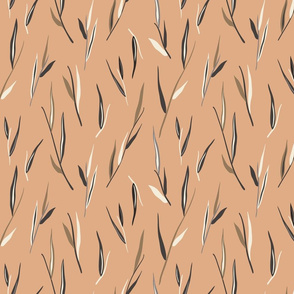 Minimal Leaves - Smoky Peach