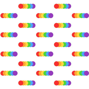 Rainbow minimalist white