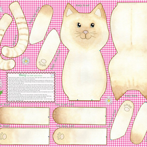 Daisy Cut and Sew Cat Doll