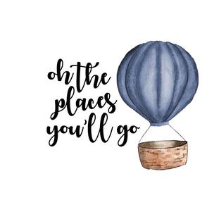 Oh the places you'll go - Fat Quarter - Cotton