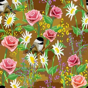 Sparrows and Roses