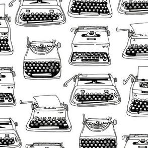 typewriters - black + white
