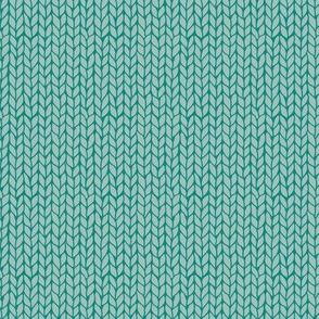 knit - mint + turquoise