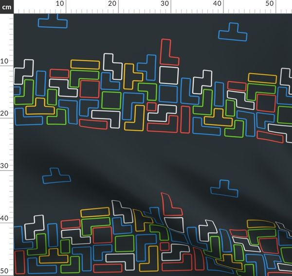 Fabric By The Yard Tetris Retro Video Game Geek