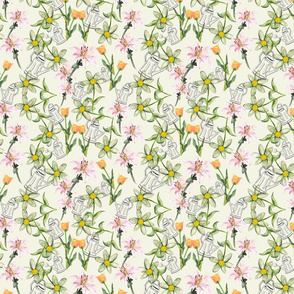 Summer Garden lemon spoonflower