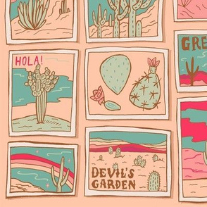 Retro Desert Postcards
