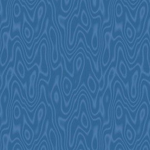 faux bois moire - twilight blue
