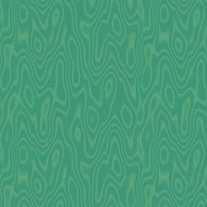 faux bois moire - green-gold
