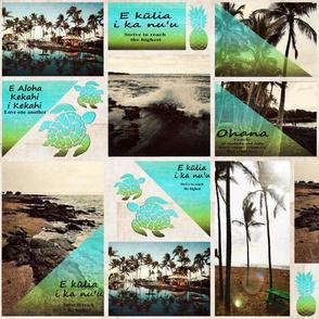 Vintage Aloha Postcard Quilt