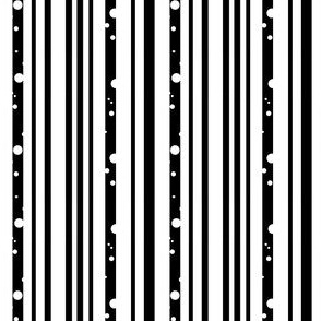 Black and White Dotted Stripes