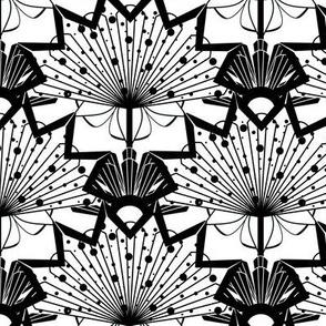 Black & White Starburst Scallop