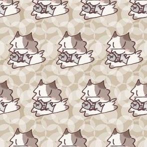 Happy Kitten  White Coffee Bubbles
