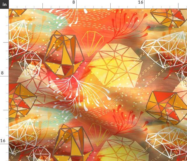 Fabric by the Yard Chi Energy {Orange Fizz}