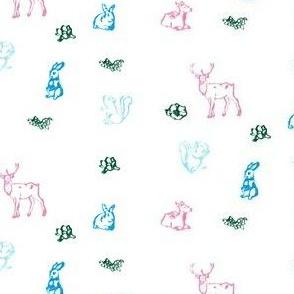Pastel Woodland Creatures