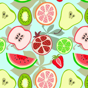 paint-by-numbers fruit