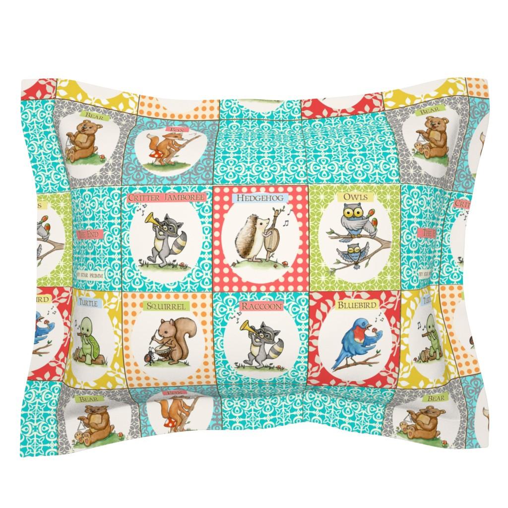 Sebright Pillow Sham featuring Critter Jamboree Book by mytinystar