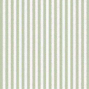 Narrow Green French Ticking Stripe