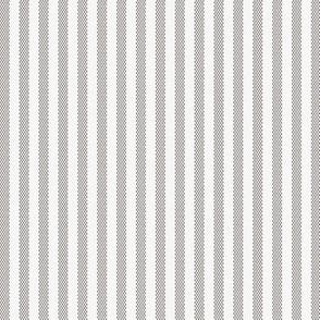 Narrow Gray Grey French Ticking Stripe