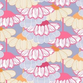 Flower Rain Chain Pink, Orange, Purple