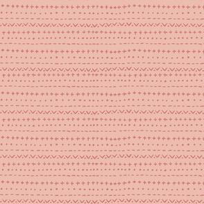 Mod Stripe-dustypinkCoral