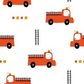 Fire Engine Fire Truck red fireman