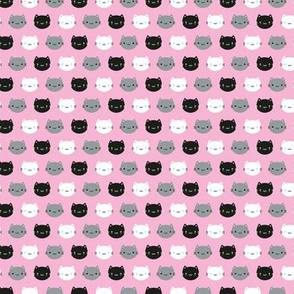Mini Cute Cats & Kawaii Kittens (Pink)