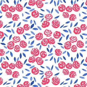 watercolor simple roses
