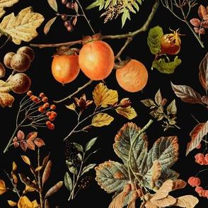 vintage botanical autumn_black