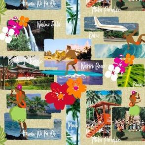 Aloha Paradise Hawaiian Vintage Postcards
