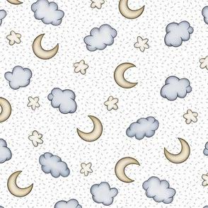 Night sky on white background