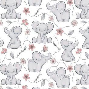Cute little elephants in smaller scale 2in