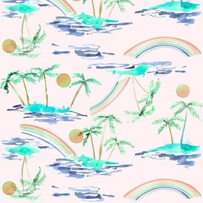 tropical palms peach tropics collection