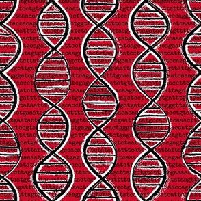 double helix - red