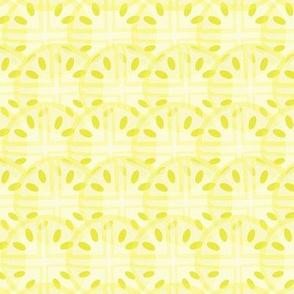 Sliced Yellow Lemon Pattern
