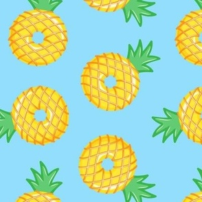 pineapple donuts - blue - LAD19