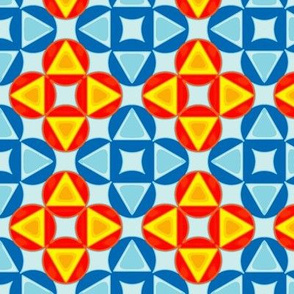 Orange and Blue Circles and Triangles