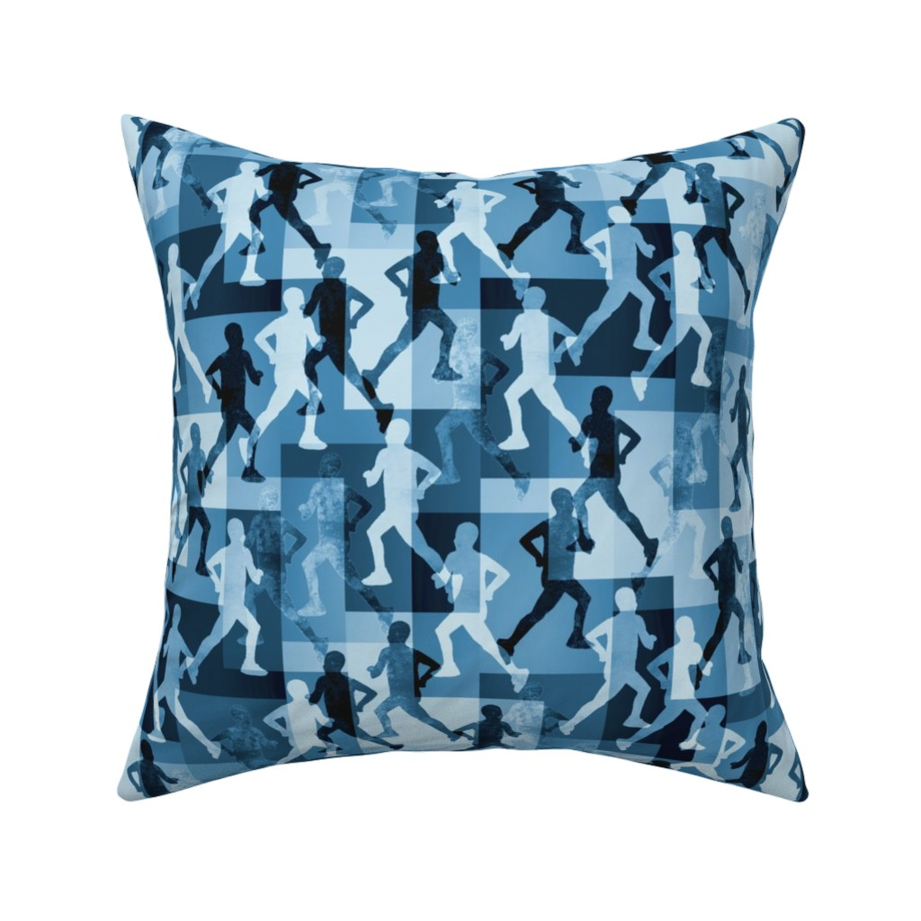 Catalan Throw Pillow featuring the love for running  by variable
