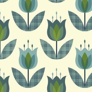 Tulip Flower Blue Medium