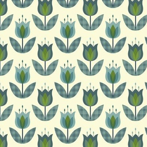 Tulip Flower Blue Small