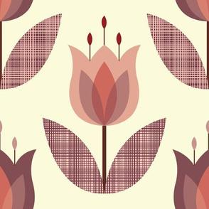 Tulip Flower Pink Large