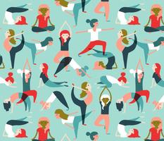 Yoga exercises on mint