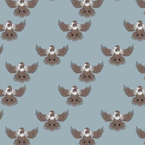 Little eagle desert freedom bird king of the sky kids summer design blue gray brown