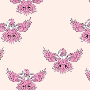 Little eagle desert freedom bird king of the sky kids summer design pink