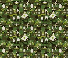Indoors & outdoors (green camo)