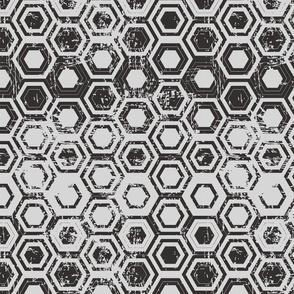 Worn hexagons
