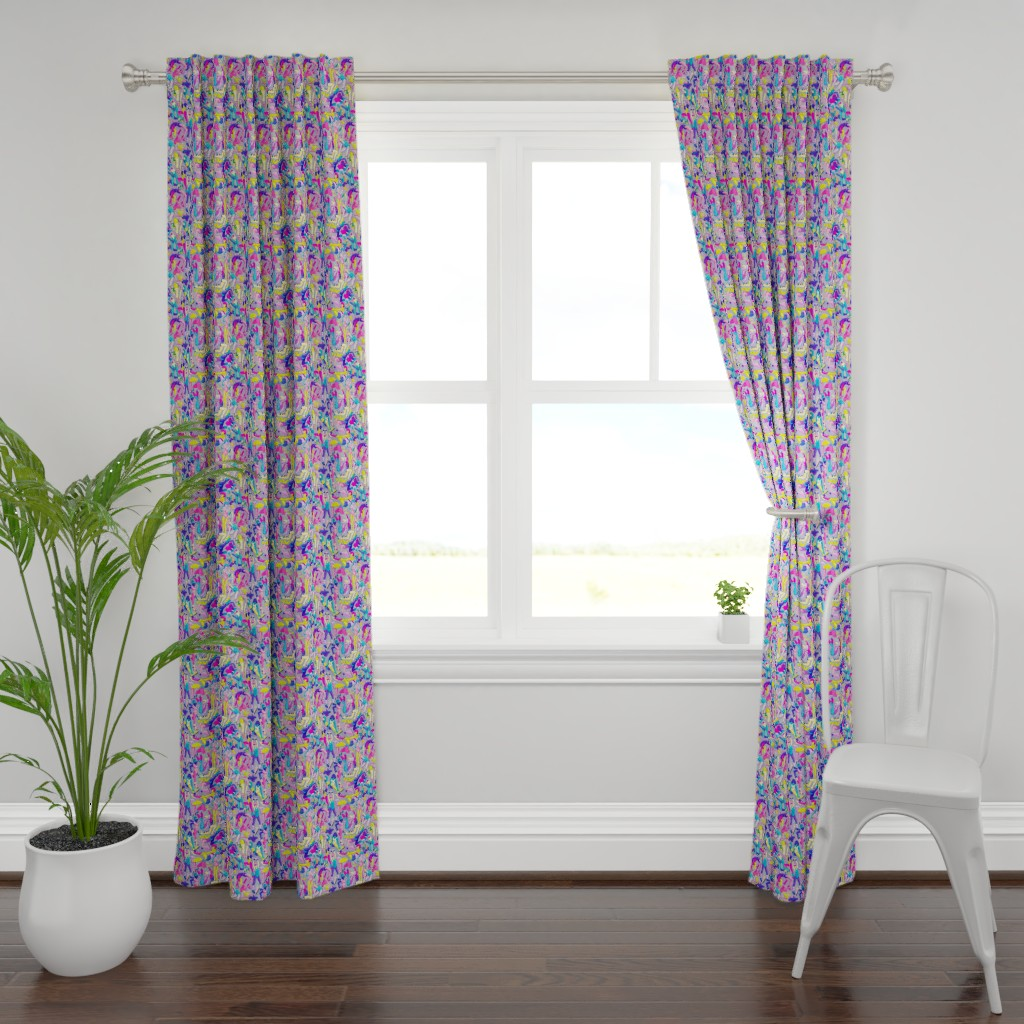 Plymouth Curtain Panel featuring Remember to Stretch by miranema