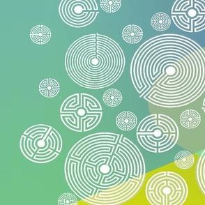 labyrinth scarf aurora