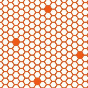 honeycomb orange red