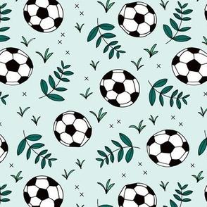 Soccer fields summer sports theme gender neutral