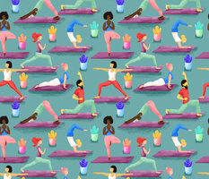 Nameste - colorful yoga